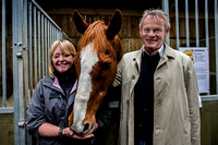 Martin Clunes at the Racehorse Rehoming Centre