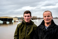 Family farm floods in Somerset, UK